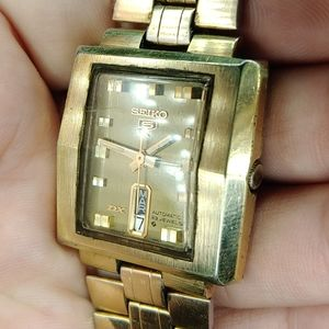 Seiko 5 DX Automatic 23 jewel vintage running